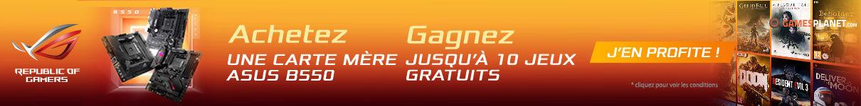 Jusqu'à 10 jeux offerts par Asus jusqu'au 31/08/2020