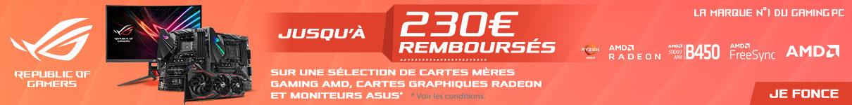 Jusqu'à 230€ remboursés avec Asus jusqu'au 9/08/2020