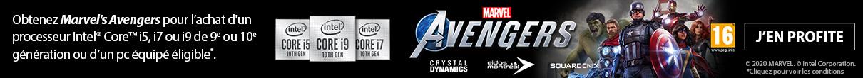 Marvel's Avengers offert avec INTEL
