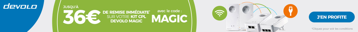 Jusqu'à -36€ avec le code MAGIC