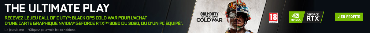 Call of Duty : Black Ops Cold War offert avec NVIDIA