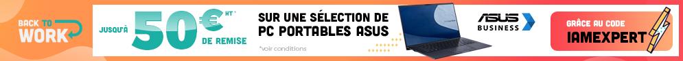 Jusqu'au 26/09, Jusqu'à 50€ de remise sur une sélection de PC portables ASUS avec le code IAMEXPERT