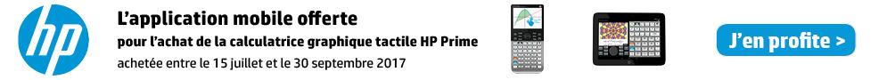 Jusqu'au 30 septembre, profitez de l'application mobile HP Prime offerte pour tout achat d'une calculatrice HP Prime