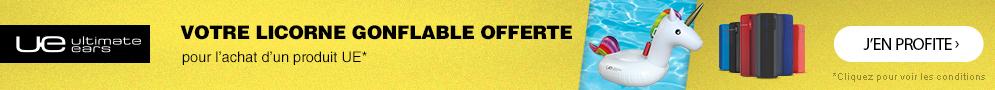 Jusqu'au 31 août, Ultimate Ears offre une bouée licorne pour l'achat d'une enceinte portable éligible