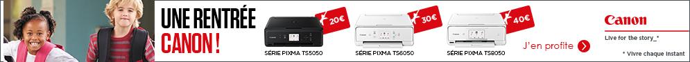 Jusqu'au 1er octobre, Canon offre une carte cadeau d'un montant jusqu'à 40€ pour l'achat d'un produit éligibe