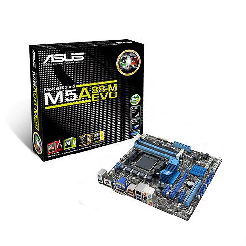 Carte mère ASUS M5A88-M EVO Carte mère Micro ATX Socket AM3+ AMD 880G AMD Radeon HD 4250 - SATA 6 Gbps - USB 3.0