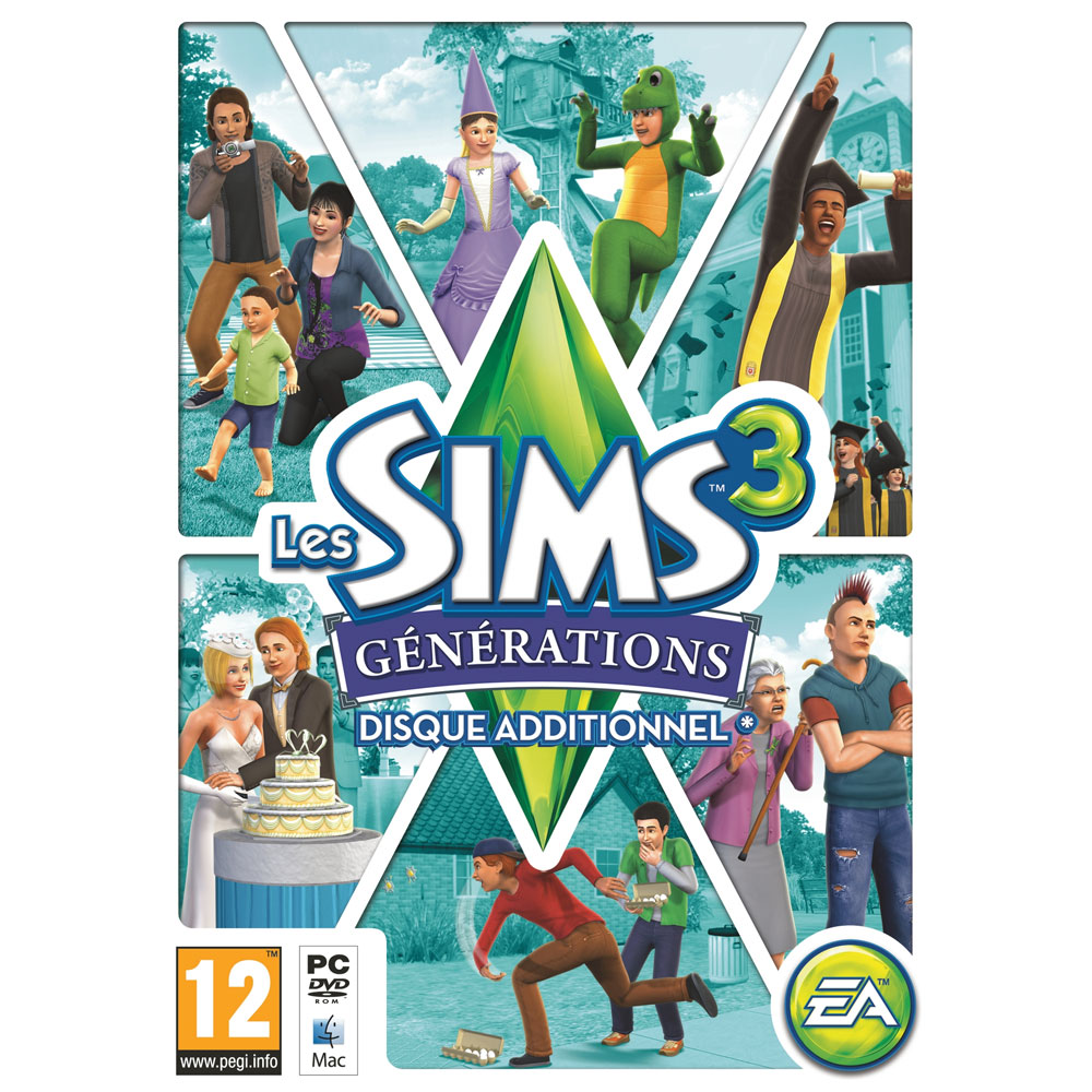 Jeux PC Les Sims 3 Générations Les Sims 3 Générations - Disque additionnel pour les Sims 3 (PC/MAC)