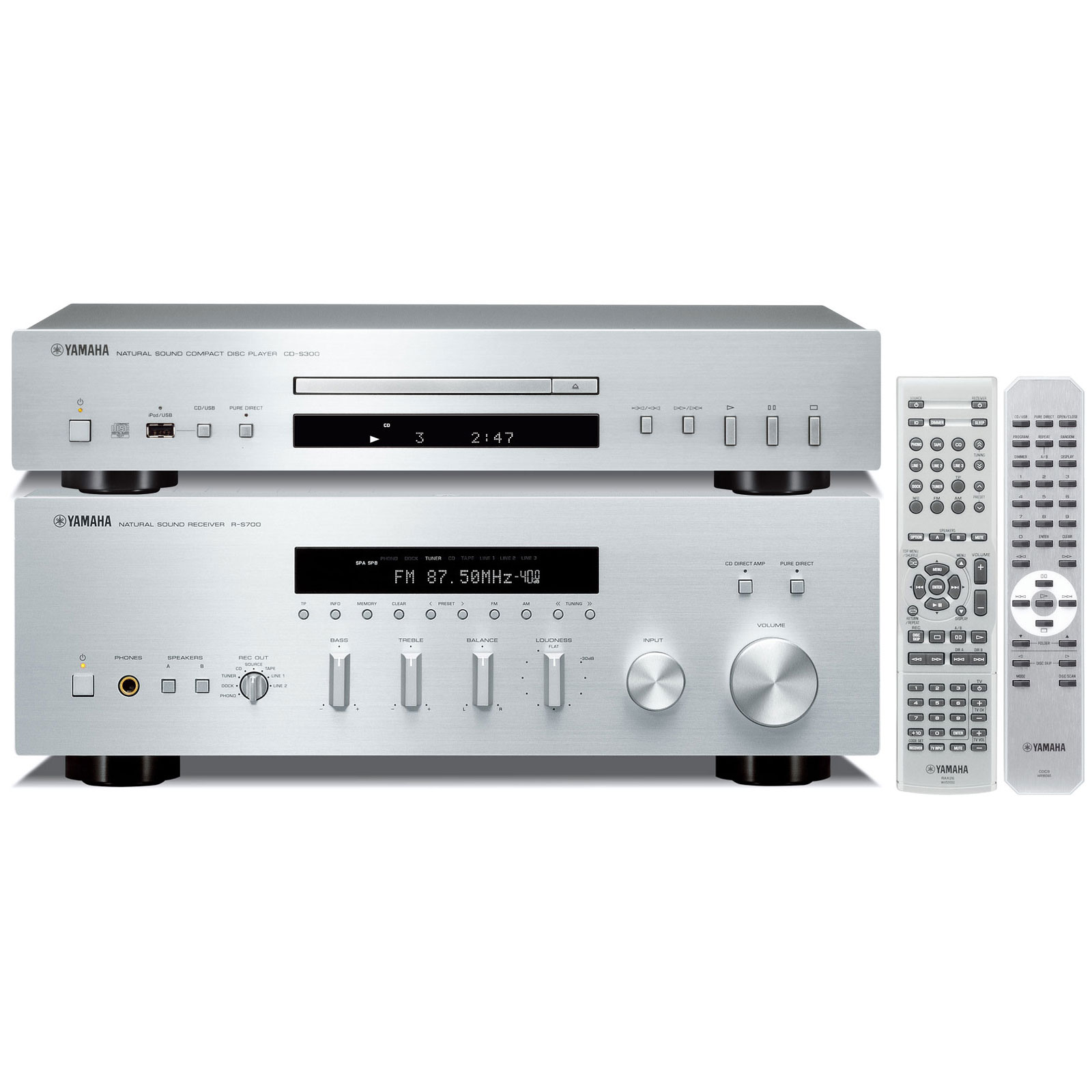 yamaha r s700 cd s300 argent amplificateur hifi yamaha. Black Bedroom Furniture Sets. Home Design Ideas