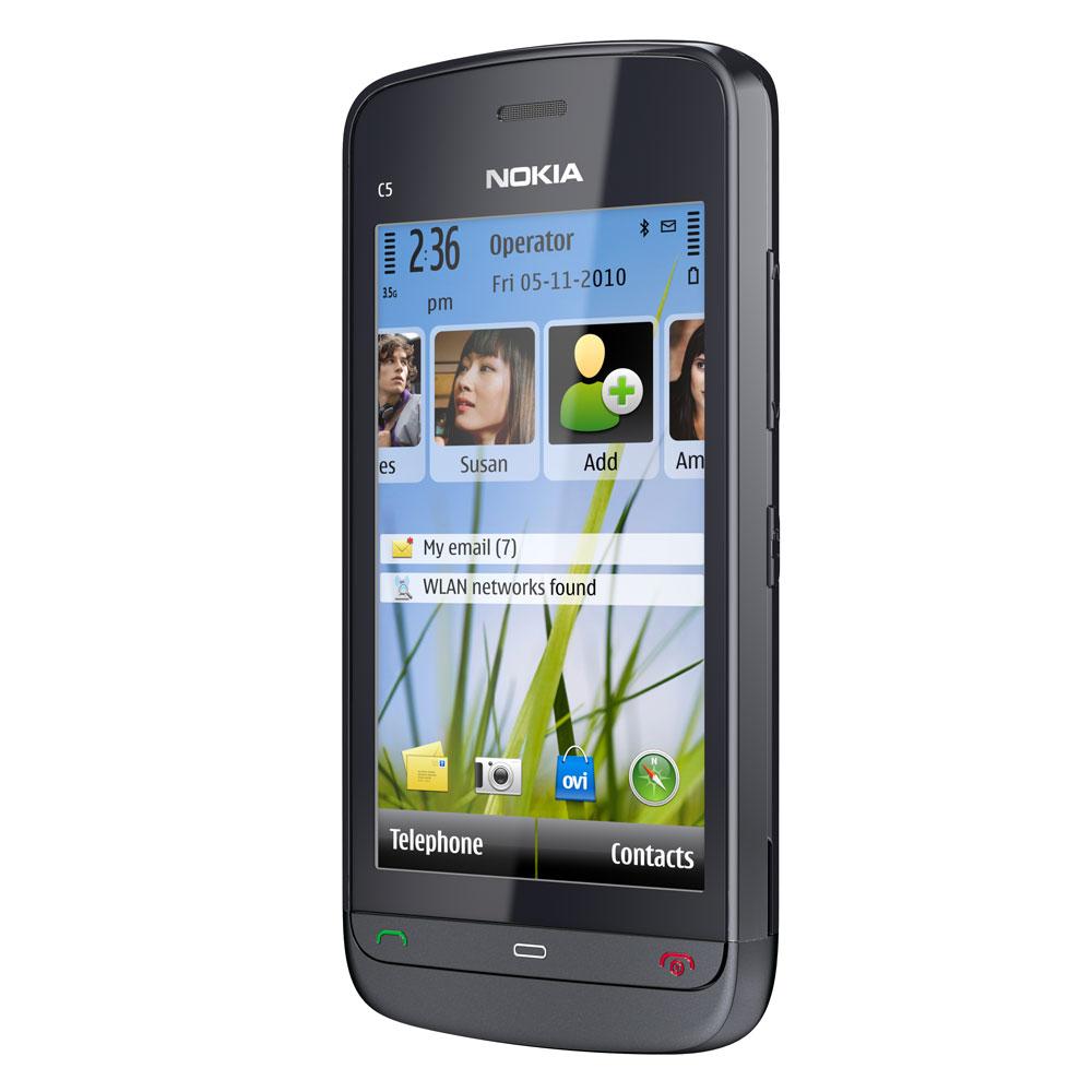 "Mobile & smartphone Nokia C5-03 Graphite Black Smartphone 3G+ avec écran tactile 3.2"""