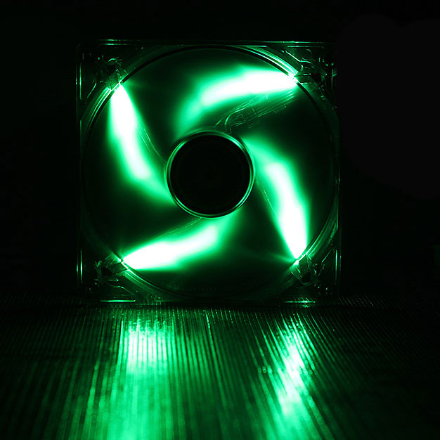 Ventilateur boîtier BitFenix Spectre LED Vert 140 mm BitFenix Spectre LED 140 mm Vert - Ventilateur LED 140 mm