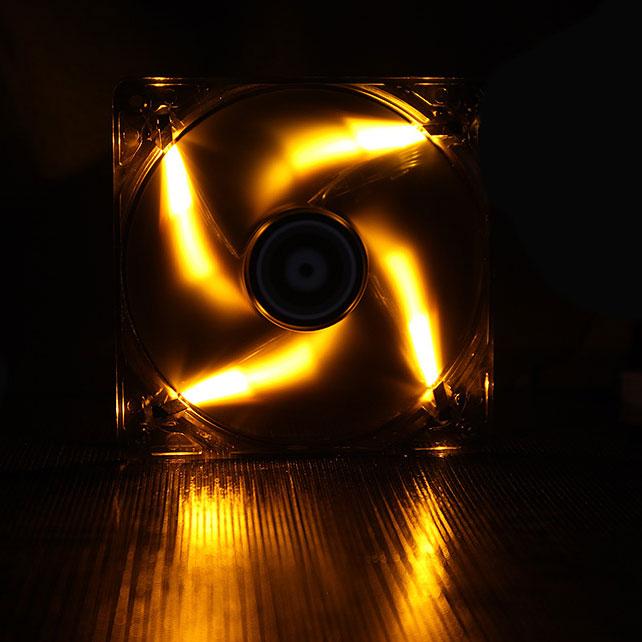 Ventilateur boîtier BitFenix Spectre LED Orange 120 mm BitFenix Spectre LED 120 mm Orange - Ventilateur LED 120 mm