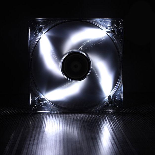 Ventilateur boîtier BitFenix Spectre LED Blanc 120 mm BitFenix Spectre LED 120 mm Blanc - Ventilateur LED 120 mm