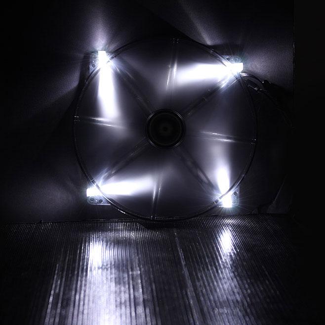 Ventilateur boîtier BitFenix Spectre LED Blanc 200 mm Ventilateur LED 200 mm