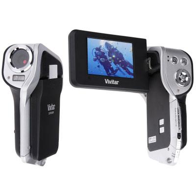 Caméscope numérique Vivitar DVR 850WHD - Noir Vivitar DVR 850WHD noir - Caméscope numérique HD carte mémoire étanche