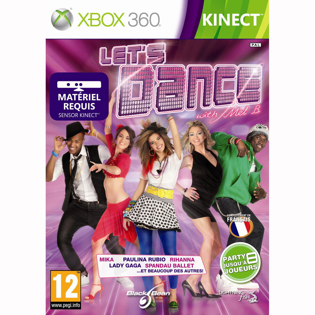 let 39 s dance with mel b kinect xbox 360 jeux xbox 360. Black Bedroom Furniture Sets. Home Design Ideas