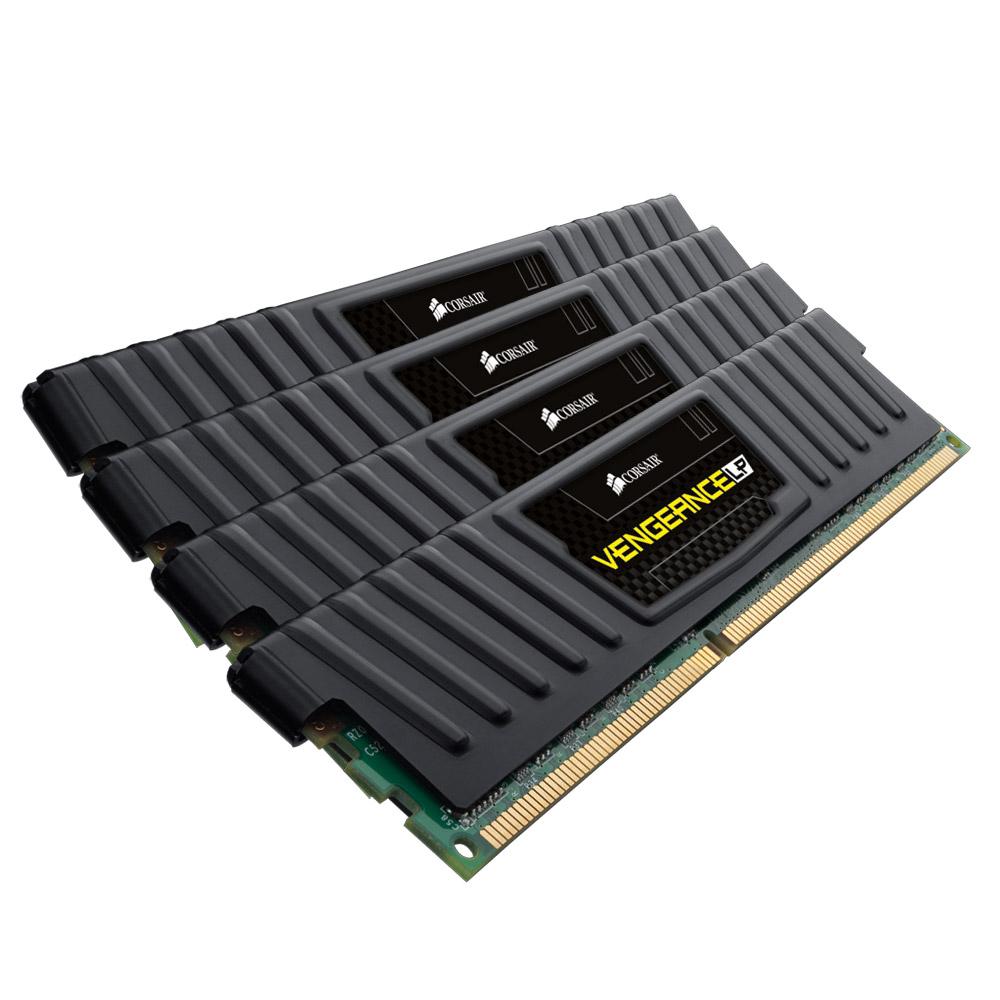 Mémoire PC Corsair Vengeance Low Profile Series 16 Go (4x 4 Go) DDR3 1600 MHz CL7 Kit Dual Channel 4 barrettes de RAM DDR3 PC12800 - CML16GX3M4X1600C7  (garantie à vie par Corsair)
