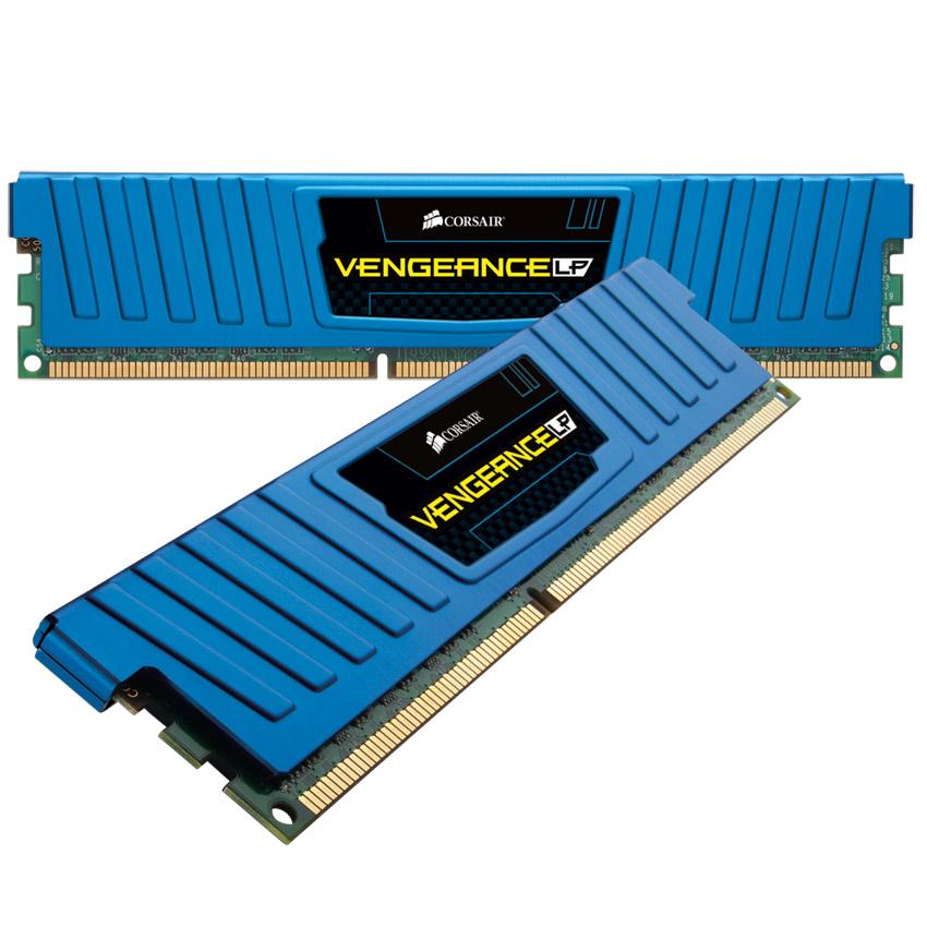 Mémoire PC Corsair Vengeance Low Profile Blue Series 8 Go (2x 4 Go) DDR3 1600 MHz CL9 Kit Dual Channel RAM DDR3 PC12800 - CML8GX3M2A1600C9B (garantie 10 ans par Corsair)