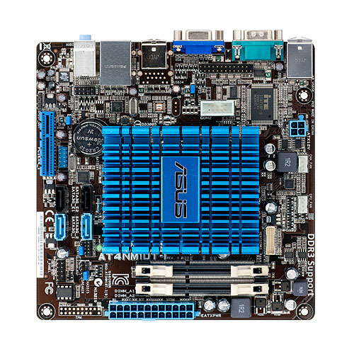 Carte mère ASUS AT4NM10T-I  Carte mère Mini ITX avec processeur Atom D425 Intel NM10 Express - SATA 3 Gbps - USB 2.0