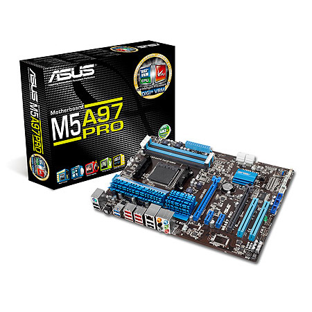 Carte mère ASUS M5A97 PRO Carte mère ATX Socket AM3+ AMD 970 - SATA 6Gb/s - USB 3.0 - 2x PCI Express 2.0 16x