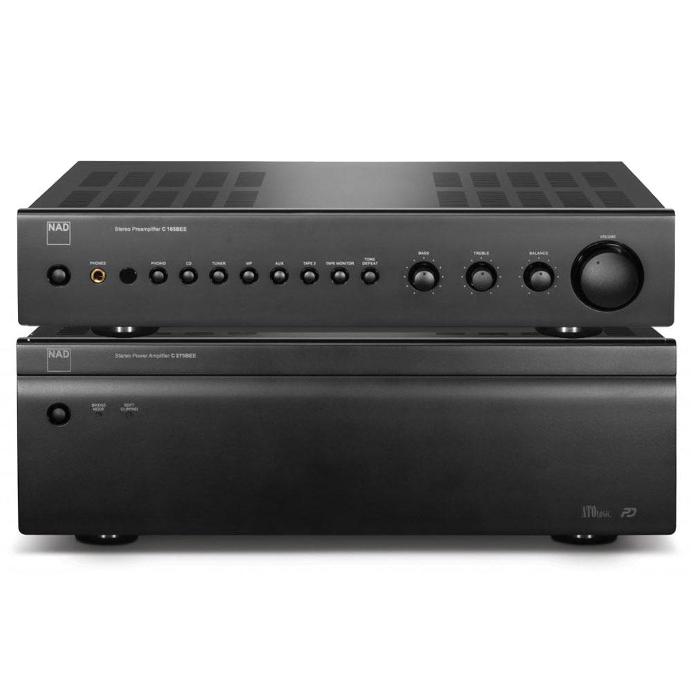 Amplificateur Hifi NAD C 165BEE + C 275BEE Graphite Préamplificateur stéréo + Amplificateur de puissance 2 x 150 W