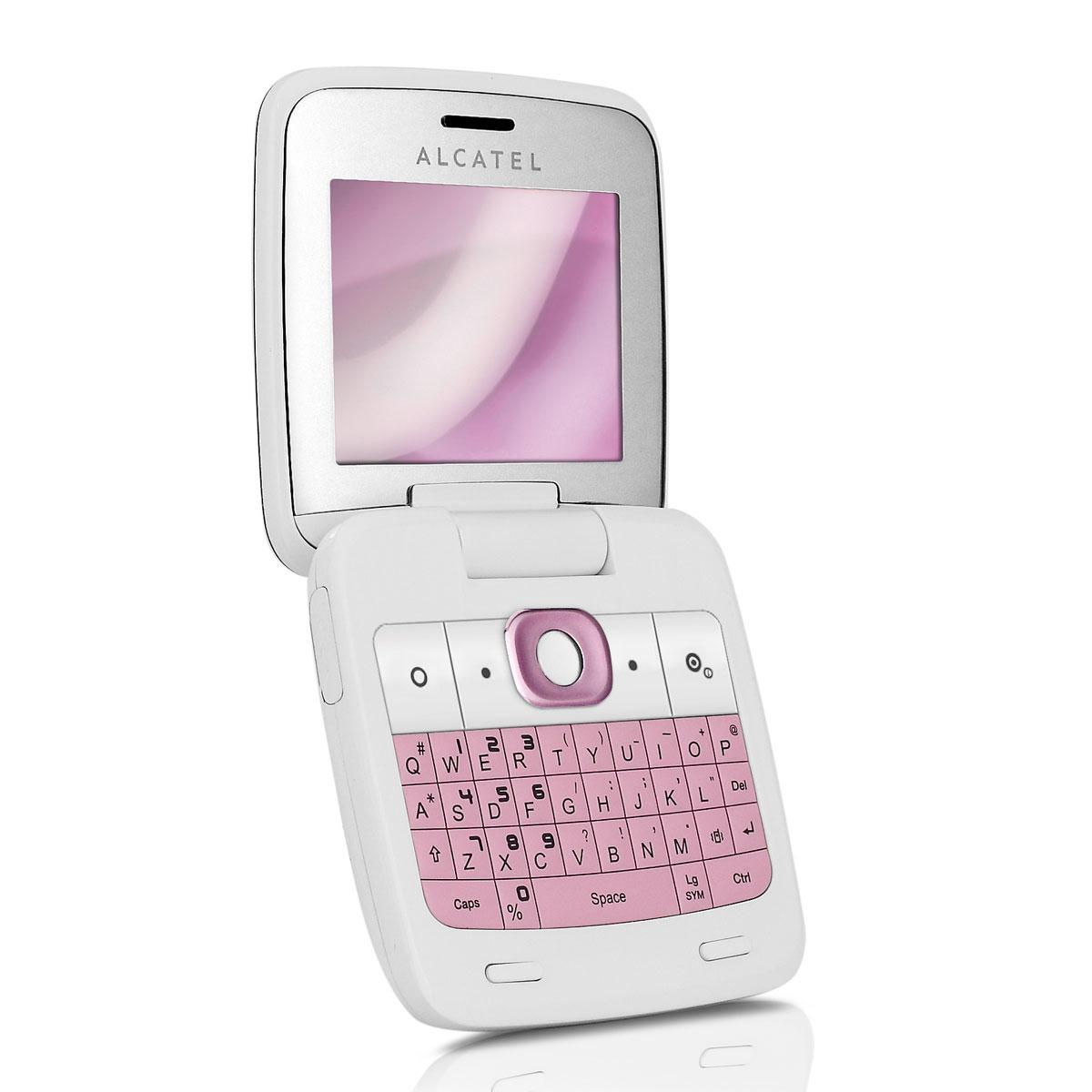 alcatel ot 808 blanc rose mobile smartphone alcatel sur. Black Bedroom Furniture Sets. Home Design Ideas