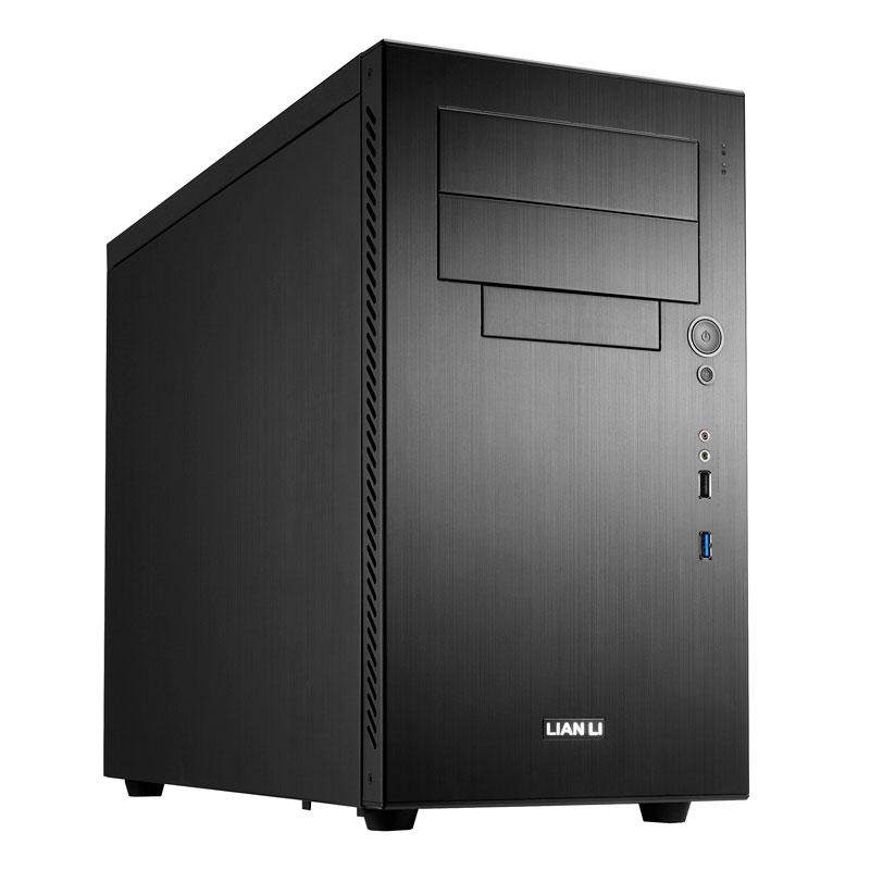 Boîtier PC Lian Li PC-A05FN (noir) Boitier moyen-tour en aluminium (coloris noir)