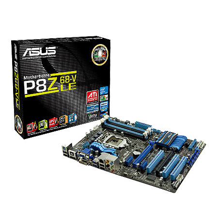 Carte mère ASUS P8Z68-V LE  Carte mère ATX Socket 1155 Intel Z68 Express - SATA 6Gb/s - USB 3.0 - 2x PCI-Express 16x