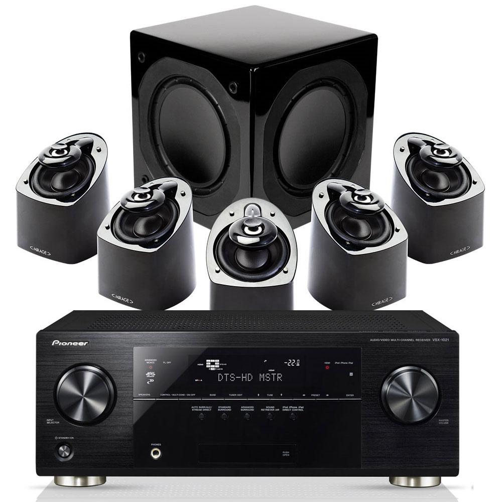 Pioneer vsx 1021 mirage mx 5 1 noir ensemble home for Yamaha ns p20 vs ns p40