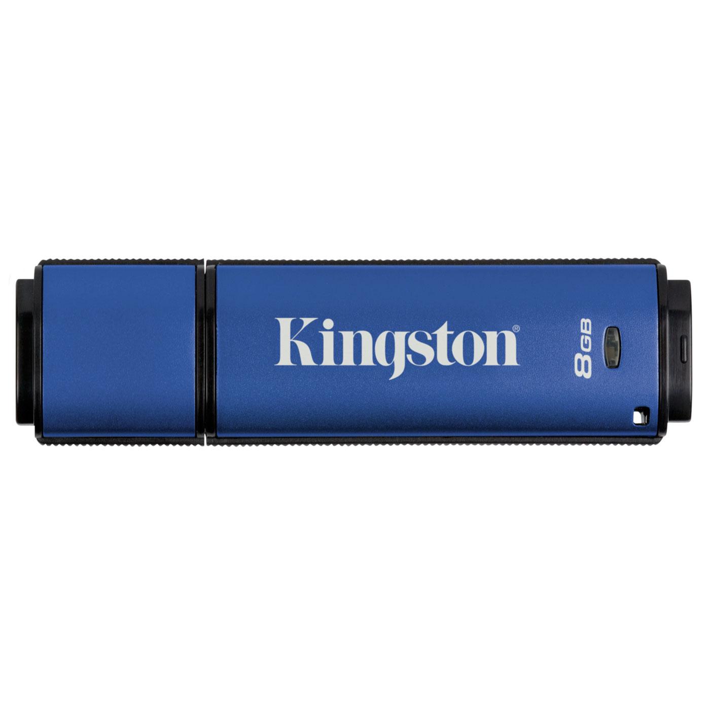 Clé USB Kingston DataTraveler Vault Privacy Managed 8 Go Kingston DataTraveler Vault Privacy Managed 8 Go - USB 2.0 (garantie constructeur 5 ans)