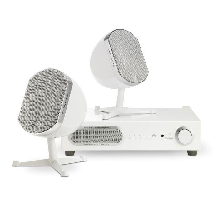 Ensemble home cinéma Focal Little Bird Pack 2.1 Blanc Système audio 2.1 avec récepteur Kleer compatible iPod/iPhone/iPad