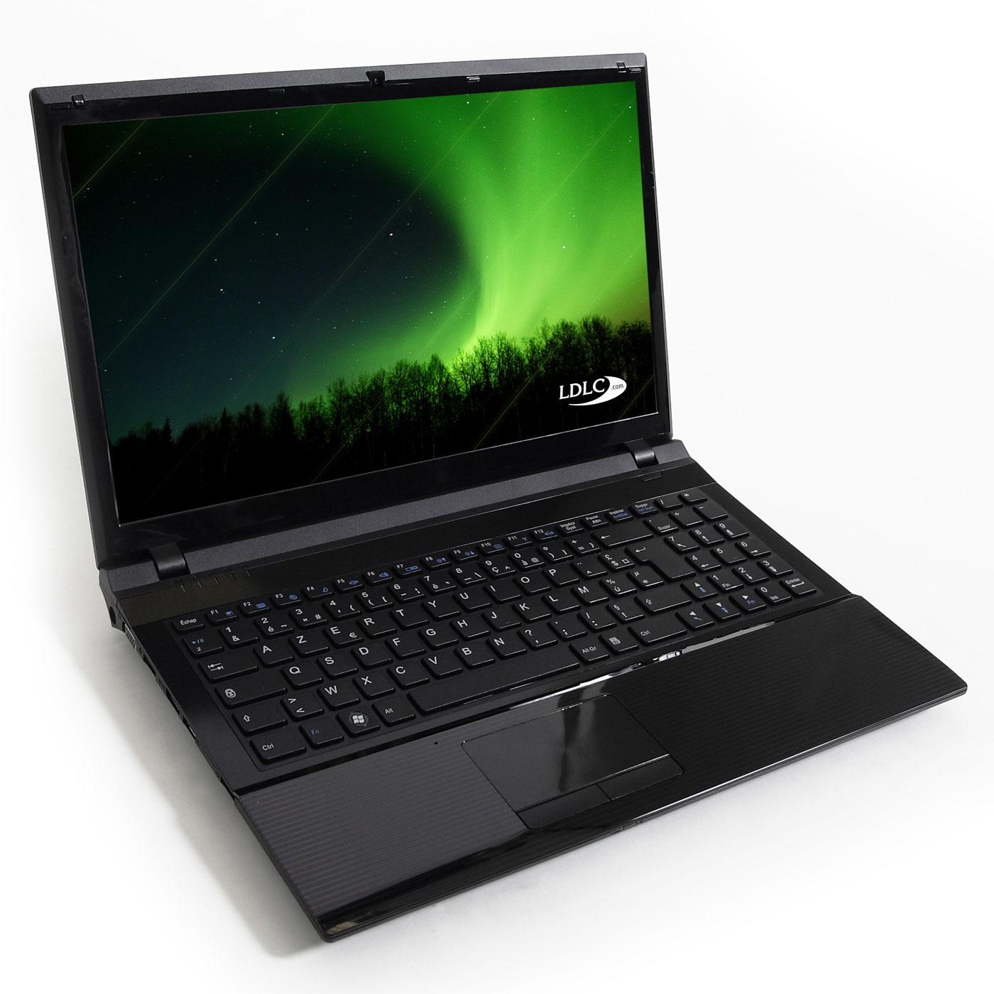 """PC portable LDLC Aurore BB1-B8-2-H2 Intel Celeron B800 2 Go 250 Go 15.6"""" LCD Graveur DVD Wi-Fi N/Bluetooth Webcam (sans OS)"""