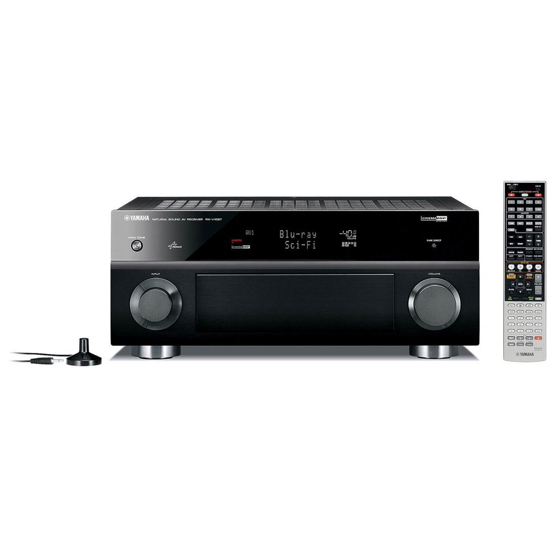 Ampli home cinéma Yamaha RX-V1067 Noir Ampli-tuner Home Cinema 3D Ready 7.2 DLNA avec HDMI 1.4 et Décodeurs HD