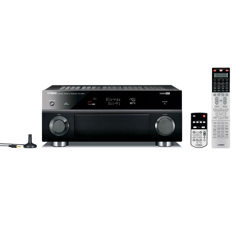 Ampli home cinéma Yamaha RX-V2067 Noir Yamaha RX-V2067 Noir - Ampli-tuner Home Cinema 3D Ready 9.2 DLNA avec HDMI 1.4 et Décodeurs HD