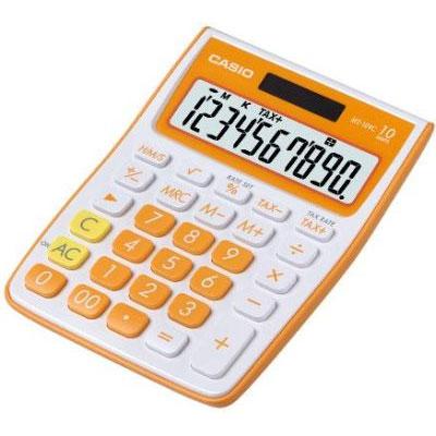 casio ms 10vc orange calculatrice de bureau calculatrice casio sur. Black Bedroom Furniture Sets. Home Design Ideas