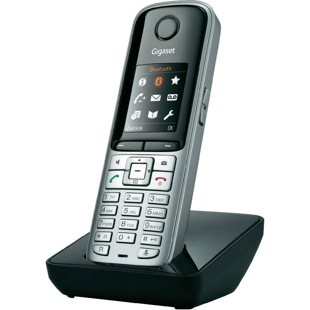 gigaset s810h argent noir t l phone sans fil gigaset sur. Black Bedroom Furniture Sets. Home Design Ideas