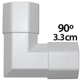 angle pour goulotte cache c ble 3 3 cm coloris blanc passe c ble g n rique sur. Black Bedroom Furniture Sets. Home Design Ideas