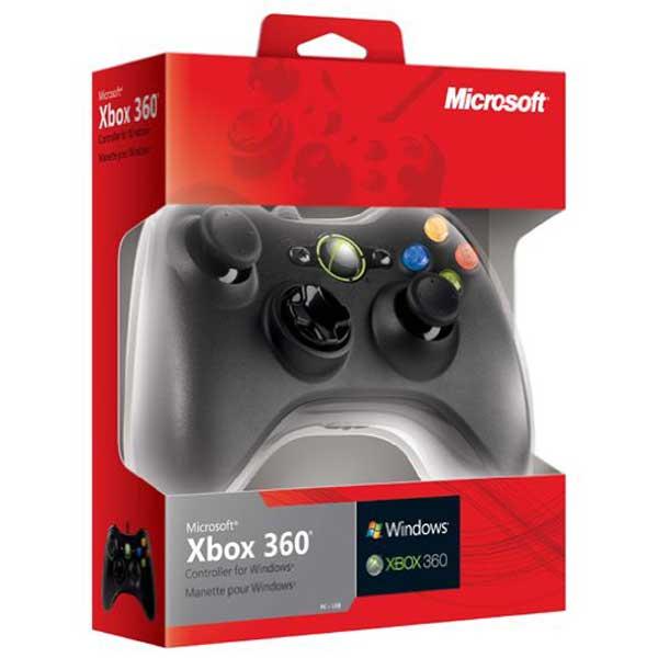Accessoires Xbox 360 Microsoft Controller Filaire Noir (Xbox 360/PC) Manette filaire (compatible PC / Xbox 360)