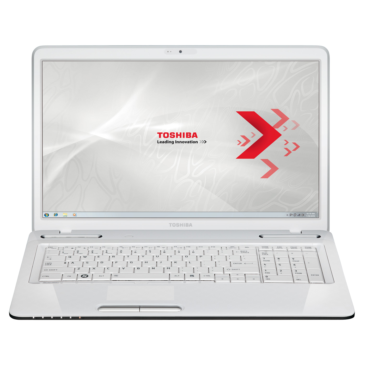 toshiba satellite l755 1ge blanc pc portable toshiba sur. Black Bedroom Furniture Sets. Home Design Ideas