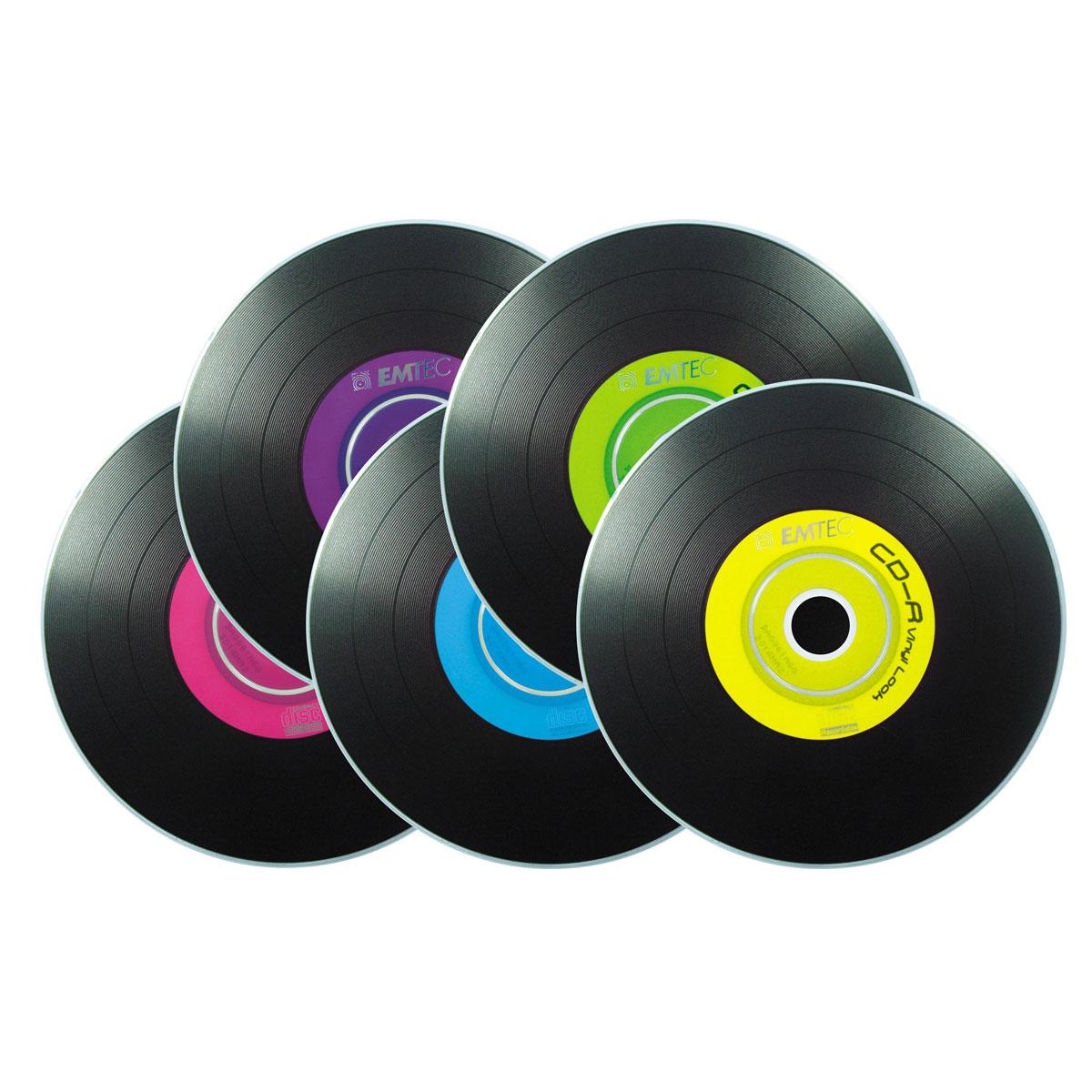 Emtec Cd R 700 Mo Vinyl Look Certifi 233 52x Couleur Pack De