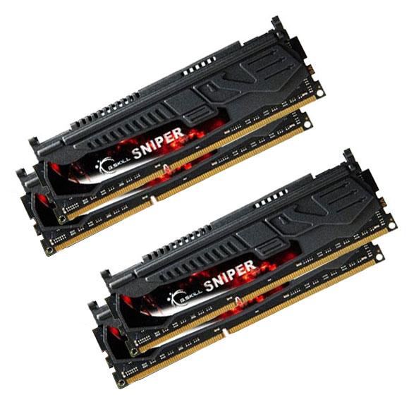 Mémoire PC G.Skill Sniper 16 Go (4x 4Go) DDR3 2133 MHz CL9 DIMM 240 pins Kit Quad Channel RAM DDR3 PC3-17000 - F3-17000CL9Q-16GBSR (garantie à vie par G.Skill)