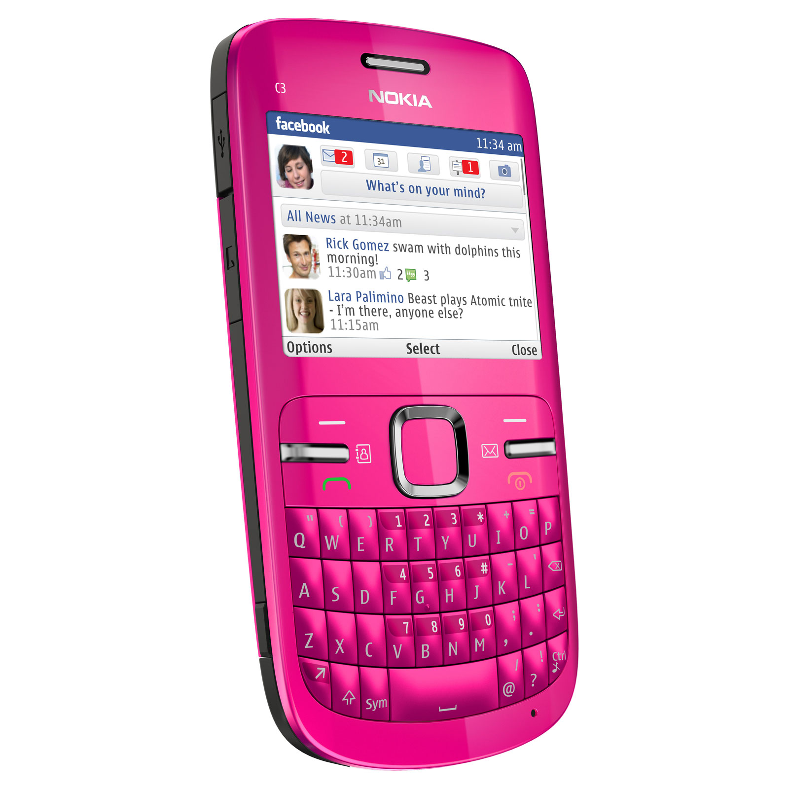 nokia c3 00 rose mobile smartphone nokia sur. Black Bedroom Furniture Sets. Home Design Ideas