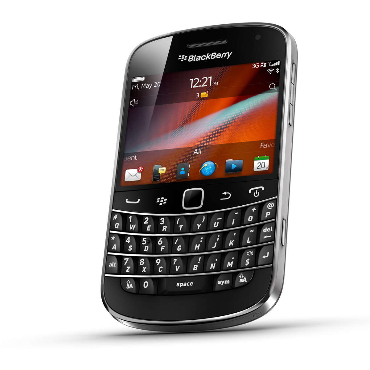 Blackberry bold 9900 qwerty noir leather pocket mobile for Photo ecran blackberry