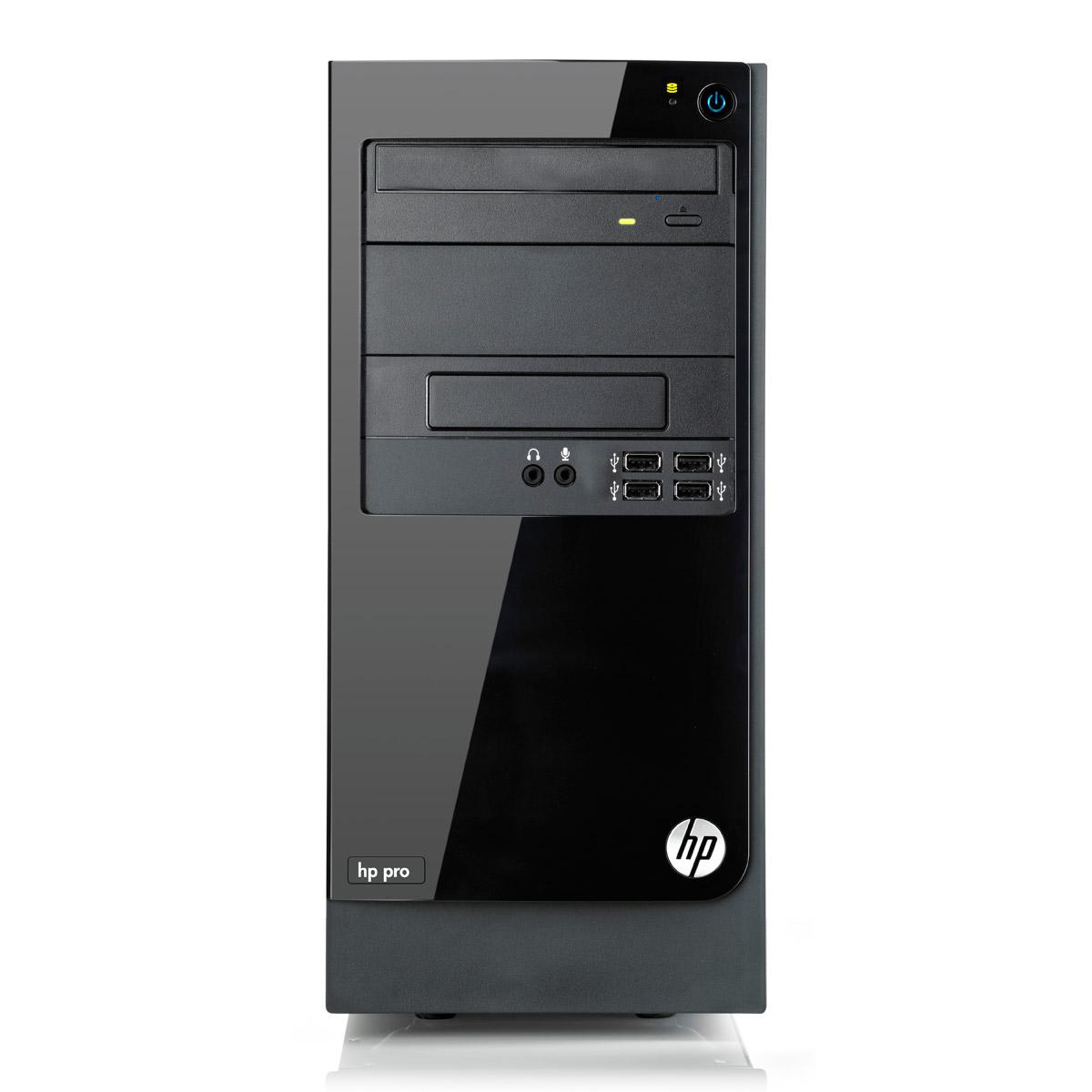 PC de bureau HP Pro 3400 (LH128EA) Intel Pentium G630 2 Go 500 Go Graveur DVD Windows 7 Professionnel 64 bits