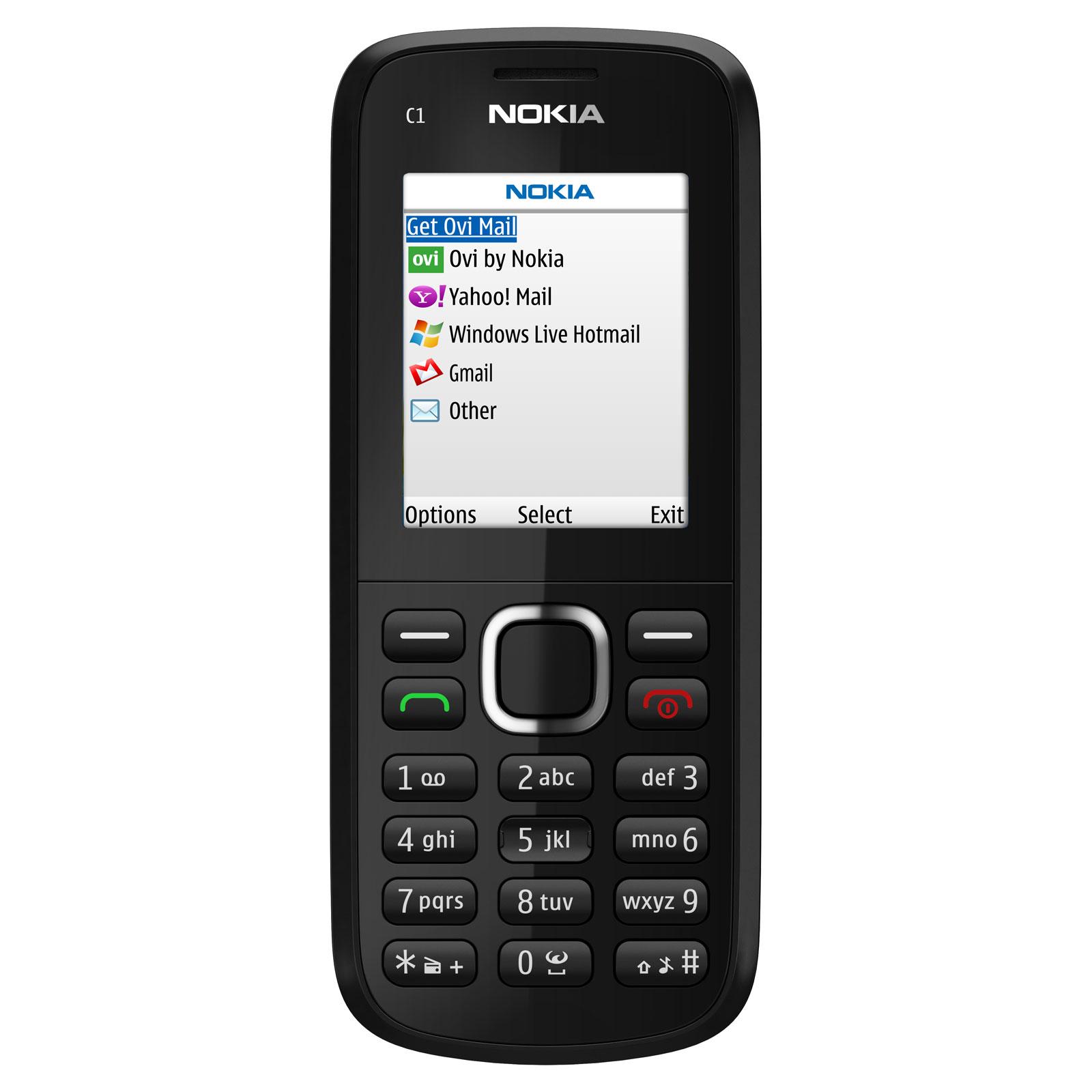 Mobile & smartphone Nokia C1-02 Black Téléphone 2G