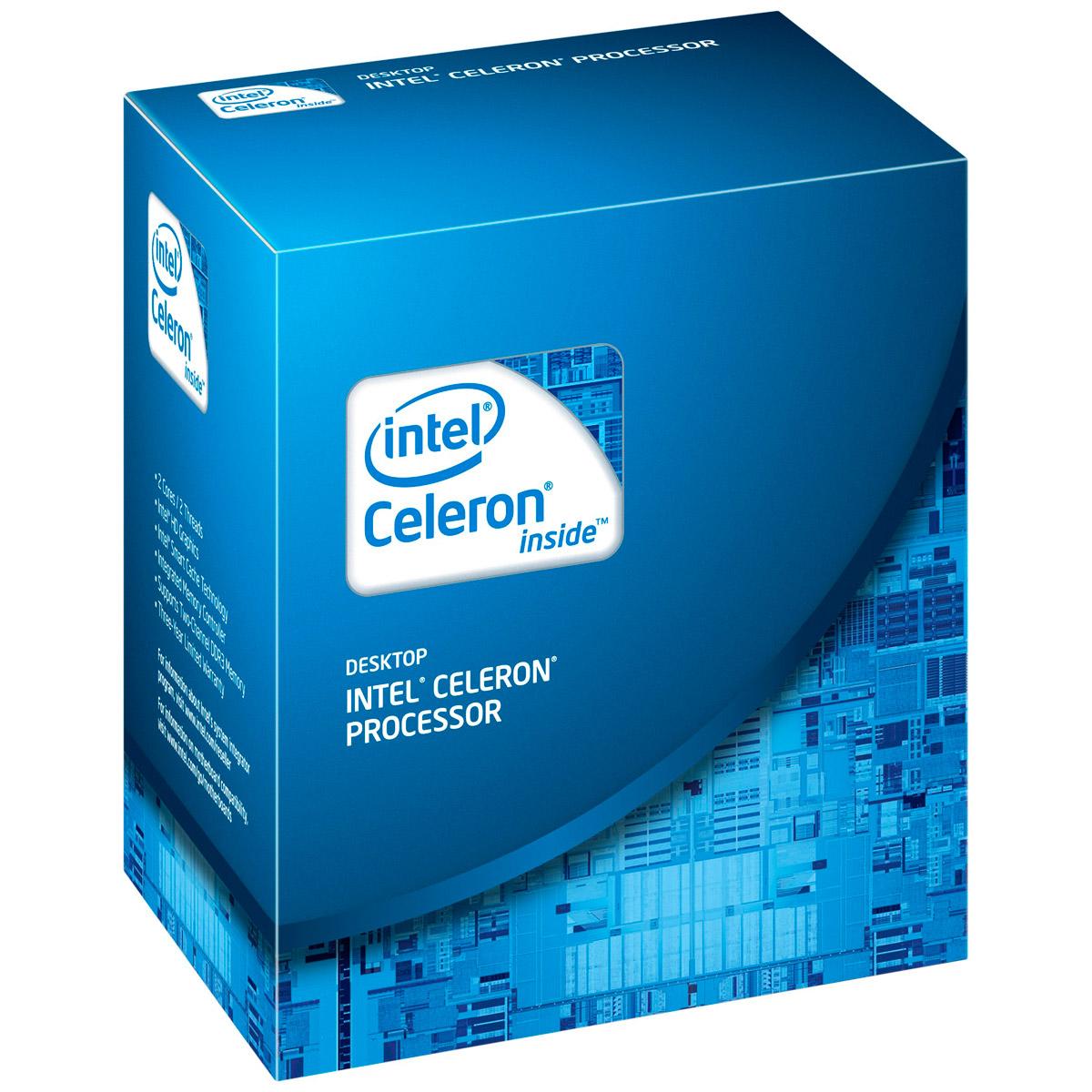 Processeur Intel Celeron G1610 (2.6 GHz) Processeur Dual Core 2.6 GHz Socket 1155 Cache L3 2 Mo Intel HD Graphics 0.022 micron (version boîte - garantie Intel 3 ans)