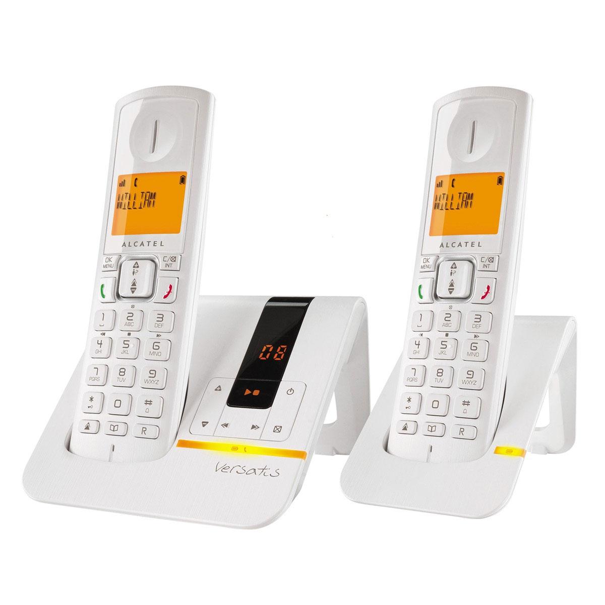 alcatel versatis f200 voice duo blanc t l phone sans fil alcatel sur. Black Bedroom Furniture Sets. Home Design Ideas