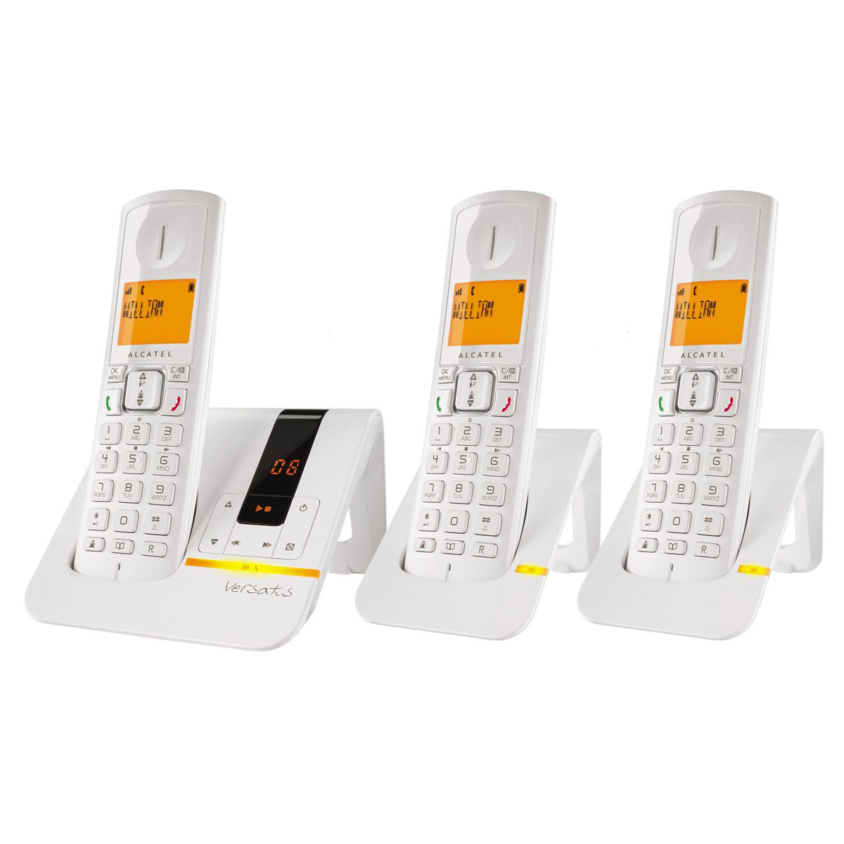 alcatel versatis f200 voice trio blanc t l phone sans. Black Bedroom Furniture Sets. Home Design Ideas