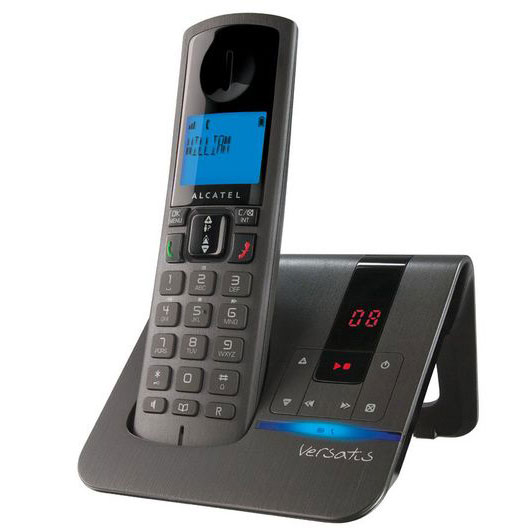alcatel versatis f250 voice noir t l phone sans fil alcatel sur. Black Bedroom Furniture Sets. Home Design Ideas