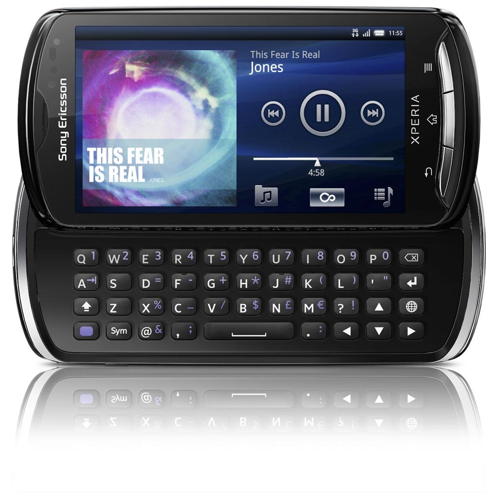 """Mobile & smartphone Sony Ericsson Xperia pro Noir Smartphone 3G+ avec écran tactile 4.2"""" et clavier coulissant sous Android 2.3"""