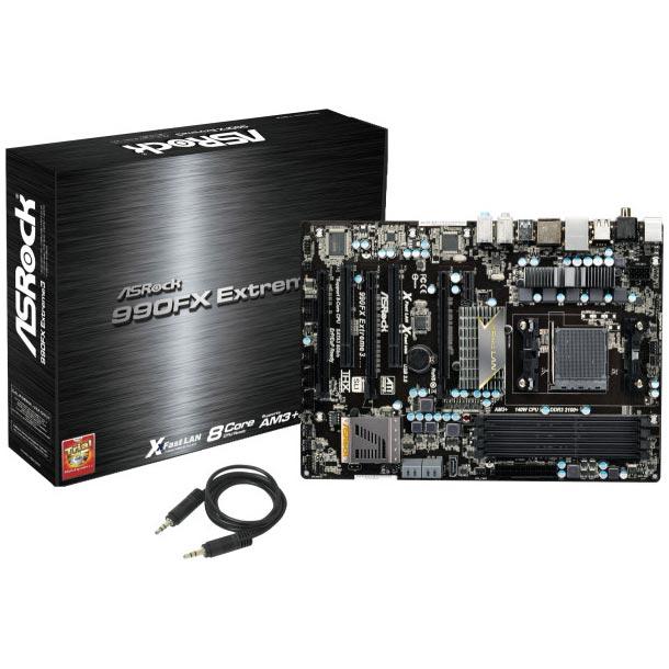 Carte mère ASRock 990FX Extreme3 Carte mère ATX Socket AM3+ AMD 990FX - SATA 6 Gb/s - USB 3.0 - 3x PCI-Express 2.0 16x